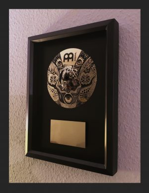 Framed Cymbal Art – hand painted by Anika