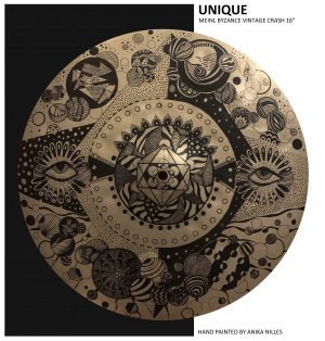 Unique Cymbal Art 16″ – hand painted by Anika