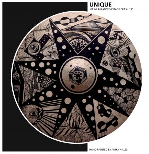 Unique Cymbal Art 18″ – hand painted by Anika